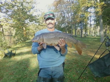 Pat Anderson with a 16.4 lb common caught during Session 5 of the Wild Carp Club of Central NY