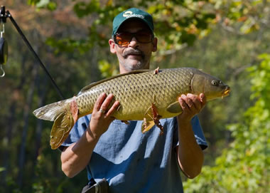 Pat Anderson with a common caught during Session 5. Liverpool, NY